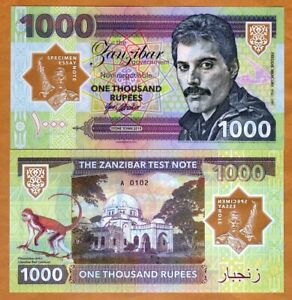 Zanzibar-Tanzania-1000-Rupees-2019-Private-Clear-Window-Polymer-Freddie-Mercury