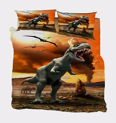 Effizient 3d Dinosaurier 59 Bett Kissenbezüge Steppen Duvet Decken Set Single De Carly Angenehm Zu Schmecken Möbel & Wohnen Bettwäschegarnituren