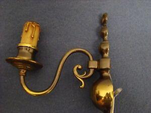 Antiques Generous Antica Coppia Appliques Una Luce Ottone Olandesi Anni '30 Lampadari Making Things Convenient For The People