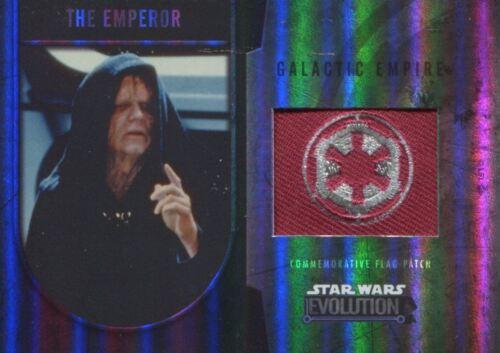 el Emperador-Imperio Galáctico 170 Evolución de la guerra de las galaxias 2016 Tarjeta De Parches De Bronce