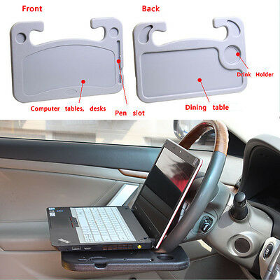 Universal Mount Portable Steering Wheel Multi Tray Tables For Laptop Work Desk