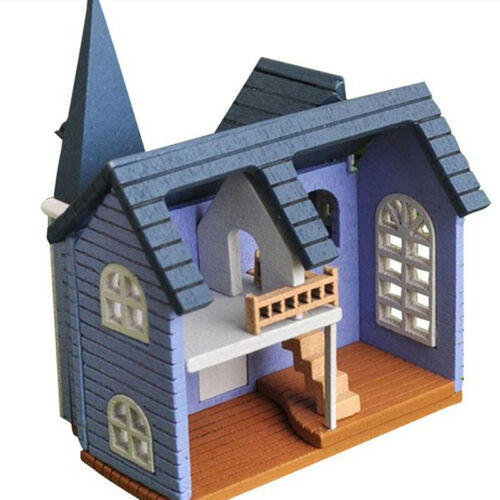 1//12 DIY Mini Holzpuppen Miniatur Haus Handwerk Gebäude Zusammenbauen Spielzeug