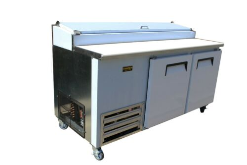 New Cooltech 2 Door Refrigerated Pizza Prep Table 67/""