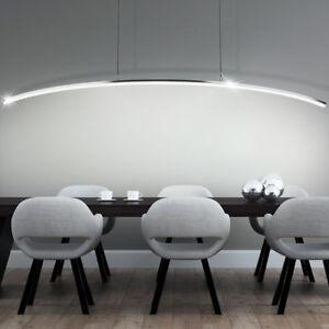 LUXE-pendule-lampe-LED-salon-ESS-chambre-lustre-14-watt-chrome-plafond-barre