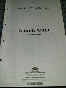 1994 Lincoln Mark VIII Wiring Electrical Diagrams Manual ...