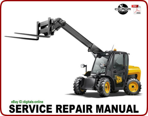 JCB 504B 526 Telescopic Handler Service Repair Manual CD