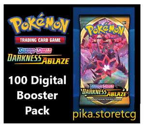 100 Darkness Ablaze Pokemon TCG Online Booster Pack code PTCGO Sent In Game