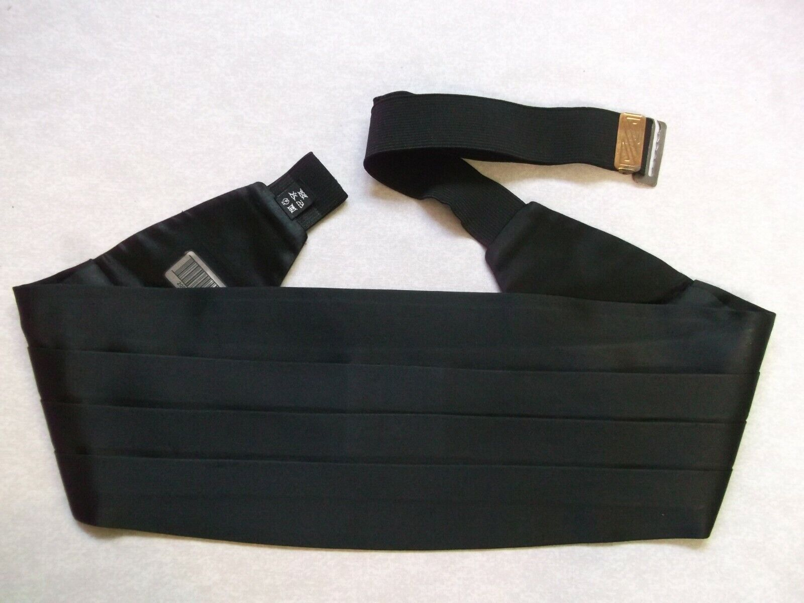 Cummerbund MENS Broad Sash Adjustable PLEATED Black Classic by Moss Bros
