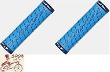 LIZARD SKINS LOGO LOCK-ON ICE BLUE BMX-MTB BICYCLE GRIPS