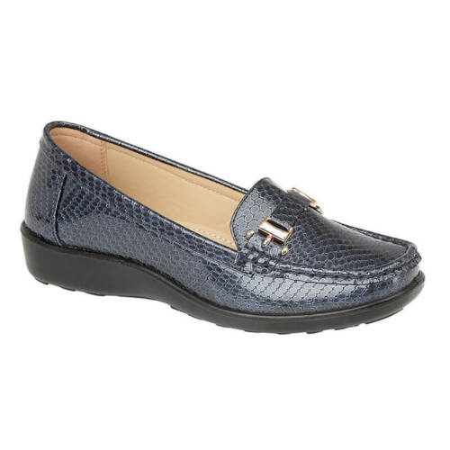 LADIES WOMENS MOCCASINS SNAKE SKIN LOAFERS PUMPS CAUSAL SHOES SIZE 3 4 5 6 7 8