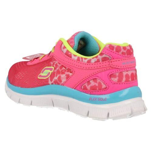 en cordones color Appeal multi espuma Skech 81891 rosa cordones con pink de con Chicas Zapatillas Skechers Neon serengeti zqEgwz7C