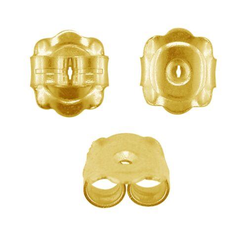 EXTRA Large 7 mm 375 9 KT giallo oro per retro orecchino Pergamene Scroll Farfalla