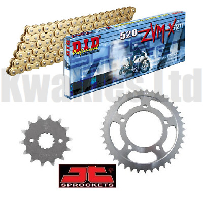 Kawasaki Z1000 SX DID ZVMX Gold X-Ring Super Heavy Duty Chain /& JT Sprocket Kit