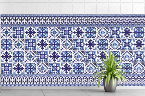 Walplus Blue Tile Granada Wall Sticker Decal Size: 10m x 10cm @ 24pcs