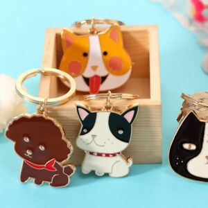 b4b8e40367 Dog Cat Animal Pattern Key Chain Handbag Pendant Ornaments Key Ring ...