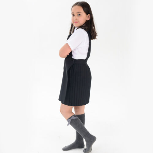 In Different Ranges Girls Knee High School Socks With Matching Silky Ribbon Bow