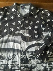 Pearl Panhandle Western Snap Rodeo Shirt Vlag Amerikaanse Vintage Grote Bull Slanke wFx4gCYq