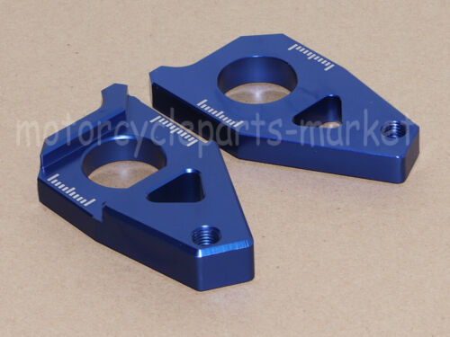 CNC Rear Axle Spindle Chain Adjuster Blocks For Yamaha TMAX 530 FZ8 T-MAX 12-15