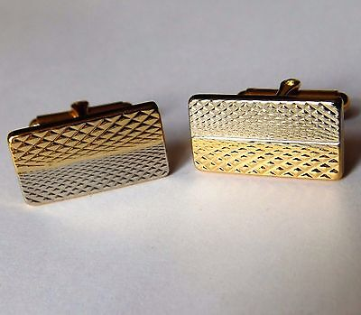 Mens cufflinks Silver-tone and Gold-tone Patterned
