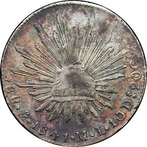 Mexico-8-Reales-Mo-1841-M-L-Mexico-City-Mint-KM-377-10