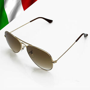 Rb3025 Aviator Sunglasses Gold Frame Crystal Gradient Bl : BN Authentic Ray Ban Aviator RB3025 001/51 Gold Frame ...
