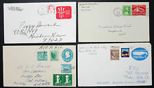US Postal Stationery Airmail Set of 4 Covers Easter Seal Lupo USA Briefe (H-8421