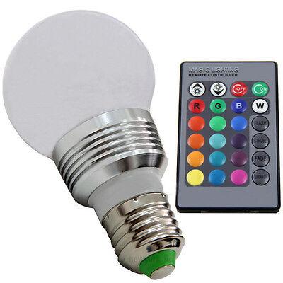 3W E27 RGB 5 Modes 16 Color Changing LED Spot Light Bulb Lamp+ IR Remote Control