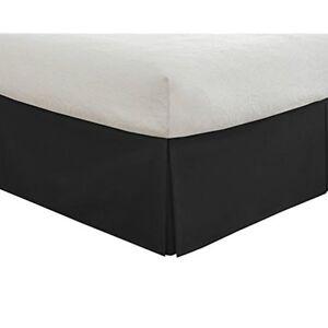 Black Bed Skirt King Size.Details About Lux Hotel Tailored Bed Skirt Bedding Basic Microfiber 14 Full King Size Black