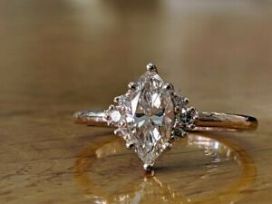 2-Ct-Marquise-Cut-Diamond-14k-Solid-Gold-Over-Solitaire-Engagement-Wedding-Ring