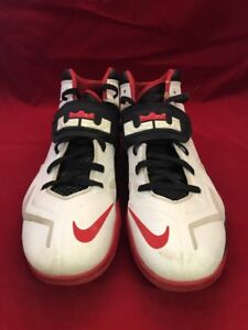 257b62e97b1f Nike Zoom Lebron Soldier VII 7 599264-100 Red White Basketball Shoes ...
