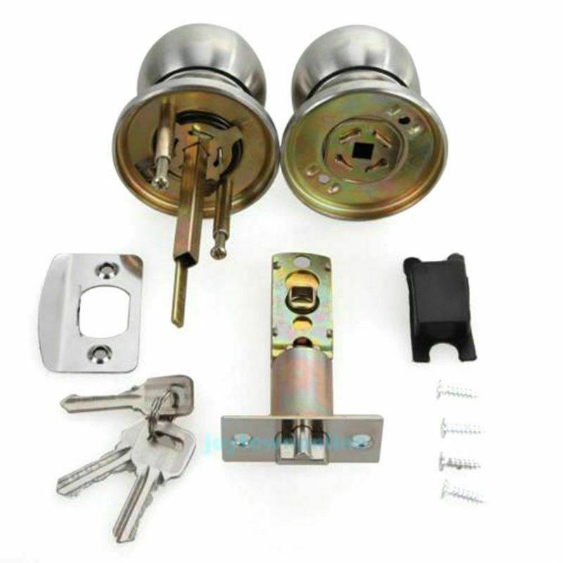 Gobrico Door Handle Lock Kit Hardware Knob Lever For Furniture Living Room Oil 3 For Sale Online Ebay