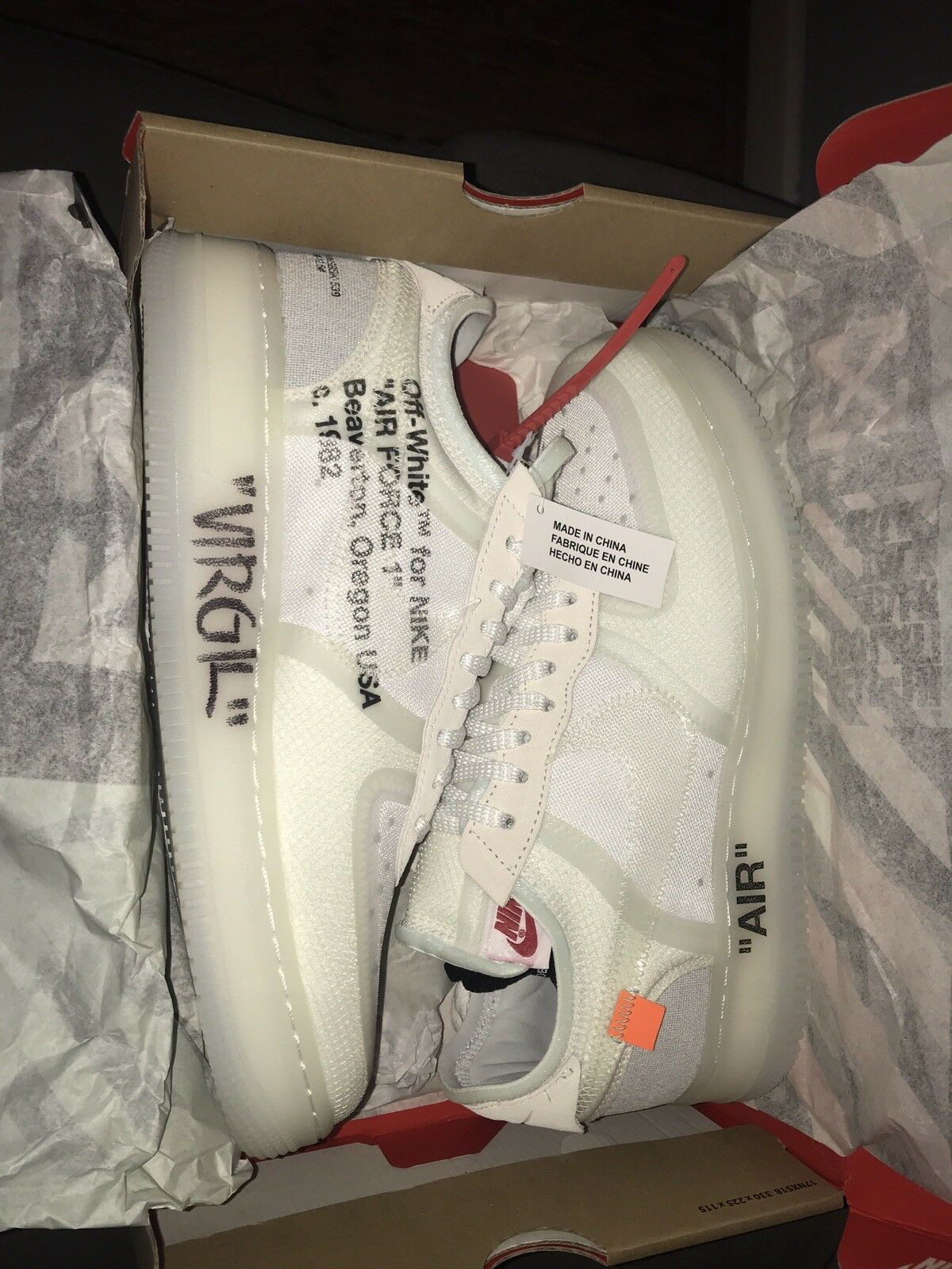 NIKE AIR FORCE 1 LOW X OFF WHITE  - Signed Pair By  The ICON Virgil Abloh