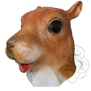 Vorschau von Online-Verkauf neue Liste Details zu Latex Ganzer Kopf Tier Kostüm Wald Eichhörnchen Requisite  Karneval Party Maske
