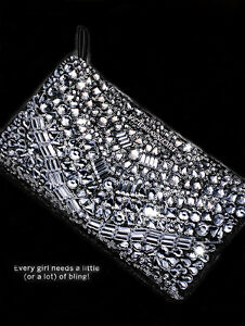 2393406ca99 Image is loading Victoria-Secret-Limited-Edition-Jeweled-Bling-Clutch-Purse-