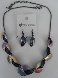 Caracol-Canada-Multi-color-Necklace-and-Earrings-Set-NEW-with-tags