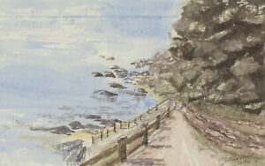 Harry-Herbert-Signed-2000-Watercolour-The-Seaside-Path