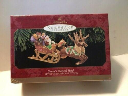 Hallmark 1997 Santa/'s Magical Sleigh Ornament reindeer