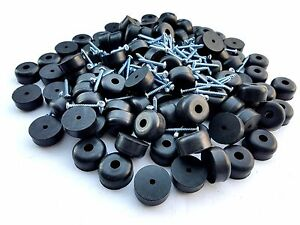 set of 25 guitar speaker rubber feet 1 x 1 2 screws metal washer built in ebay. Black Bedroom Furniture Sets. Home Design Ideas