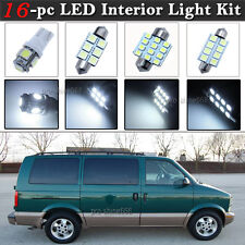 16-pc White LED Interior Light Bulbs Package Kit Fit 95-05 Chevrolet Chevy Astro