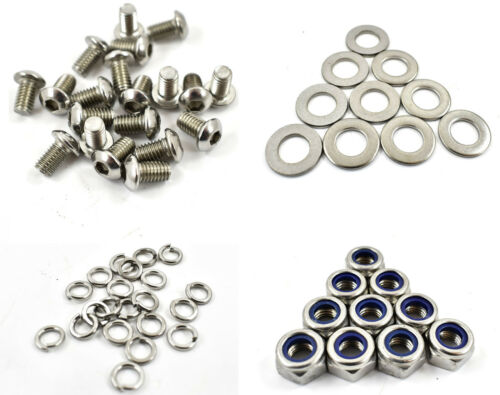 20 PLUS NUTS /& WASHERS M6 x 40mm A2 STAINLESS SOCKET BUTTON HEAD SCREW BOLTS