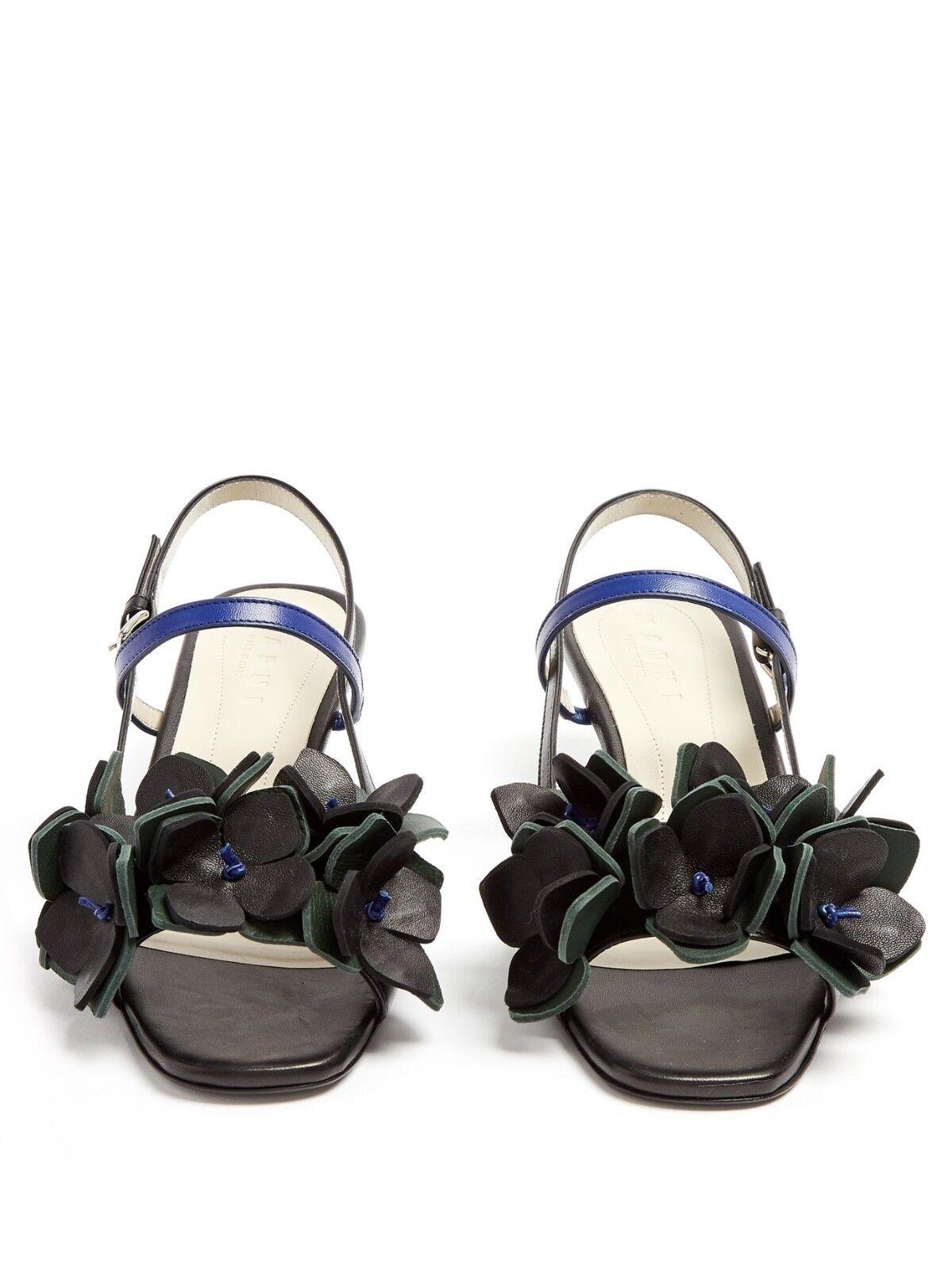 Zapatos de de de cuero Marni    2018 actual Floral Adornado Sandalias 39 6 Nuevo  grandes ofertas