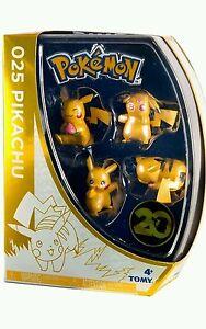 Pokemon-20th-Anniversary-Pikachu-Mini-Figure-4-Pack-Set-1-Tomy-Nintendo