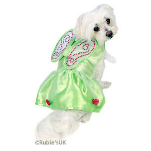 Image is loading Pet-Cat-Dog-Tinkerbell-Costume-Rubies-Disney-Fairy-  sc 1 st  eBay & Pet Cat Dog Tinkerbell Costume Rubies Disney Fairy Fancy Dress ...