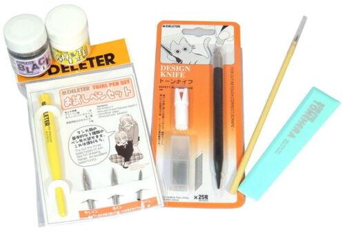 DELETER Nakayoshi Manga Series Comic Pro Model Set Pen Holder G-Pen Nib New