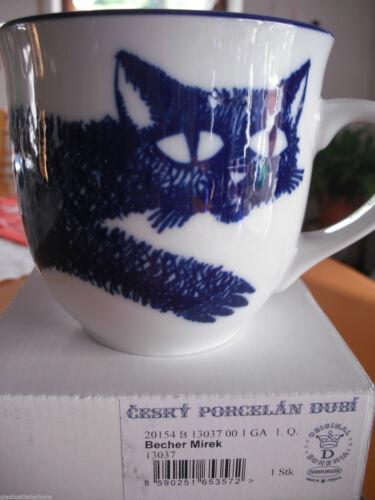 Zwiebelmuster Original Bohemia Becher Mirek Hund oder Katze u. anderes Porzellan