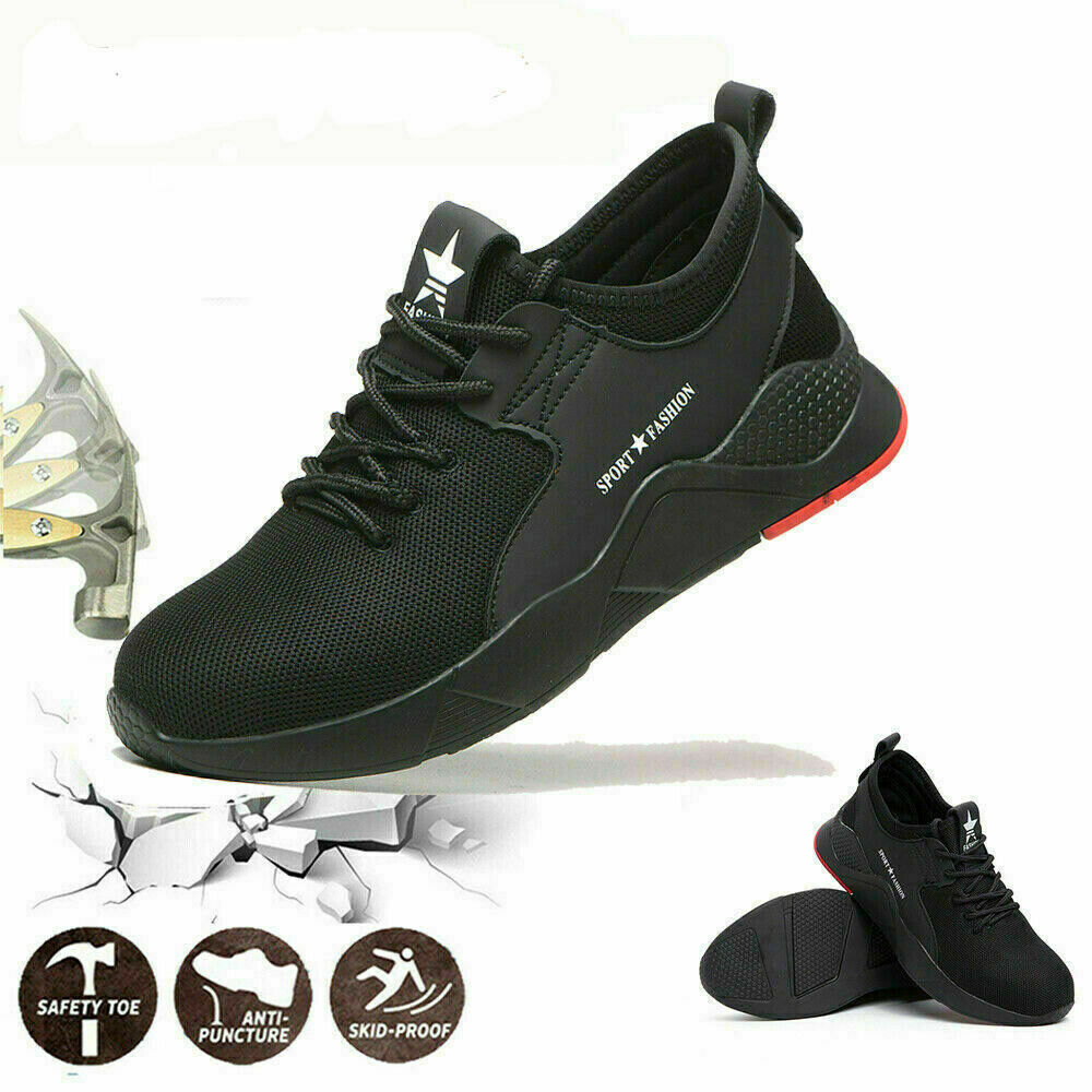 Men Lightweight Steel Toe Cap Safety Shoes Trainers Work Hiking Boots