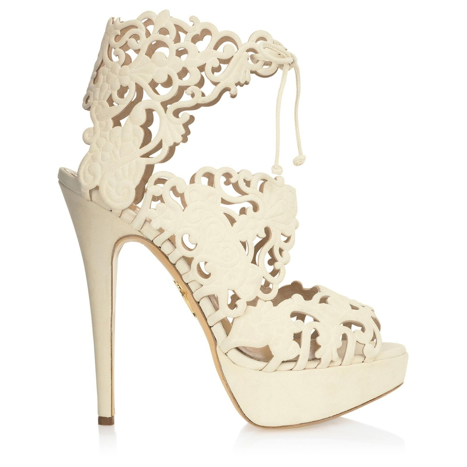 CHARLOTTE OLYMPIA Belinda cut mocka sandaler, storlek 35, NIB