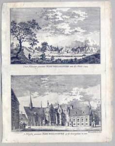 Goch-Kloster-Graefenthal-2-Kupferstiche-von-van-Liender-de-Beyer-1758