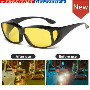 Anti Glare Night Vision Driving Sunglasses over Around Glasses Unisex