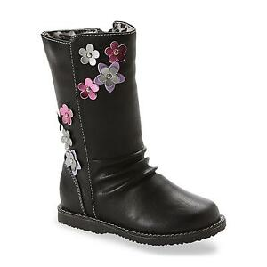 Bongo Girls Boots Gemma Black Floral Casual Fashion Toddler size 9 ...